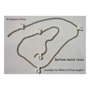 """5"""" Metal bottom chain (stabilising/beaded/bobble/bottom chain)"""